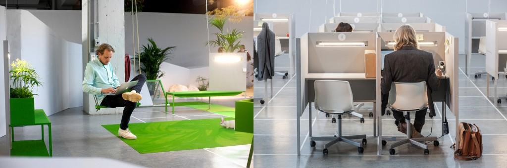 Links: De eerste week. Foto: Boudewijn Bollmann. Rechts: de vierde week. Foto: Corneel de Wilde