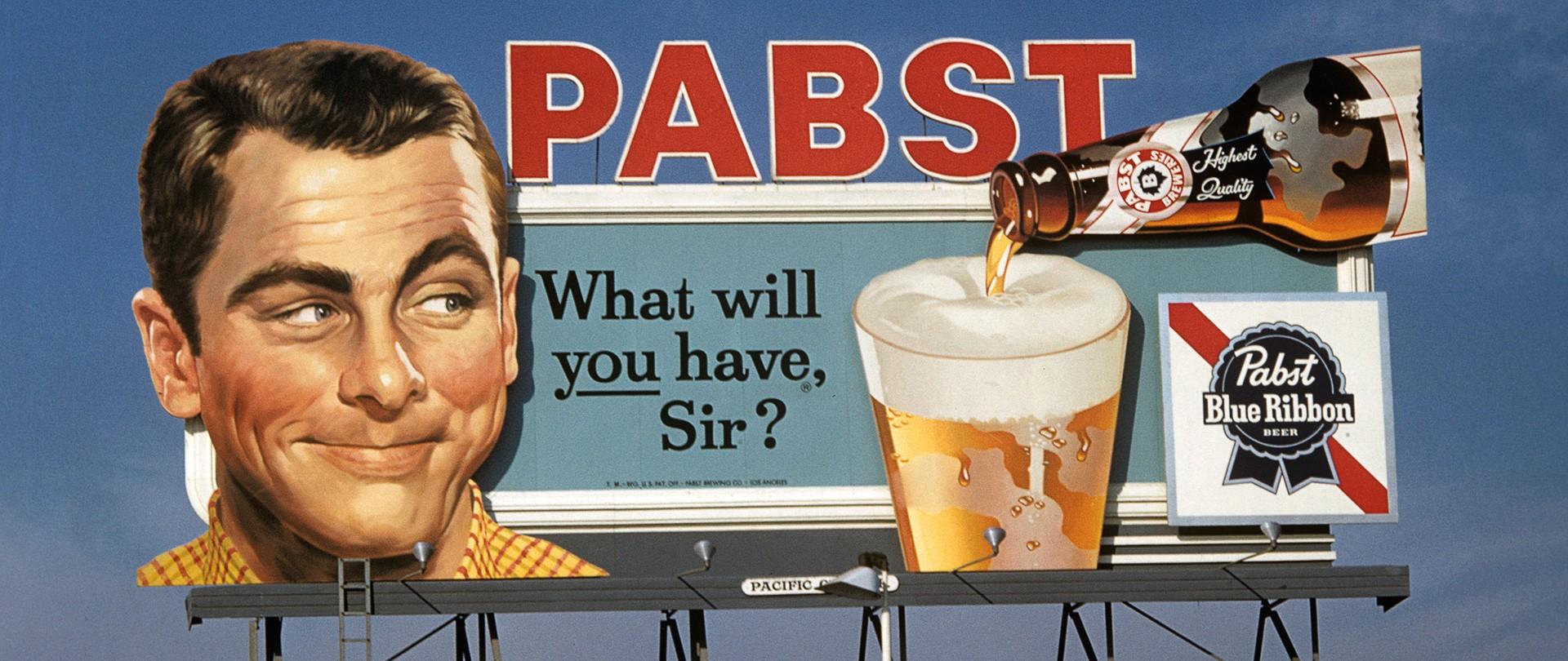 Een reclame voor bier in de Verenigde Staten in 1958. Foto: Hollandse Hoogte