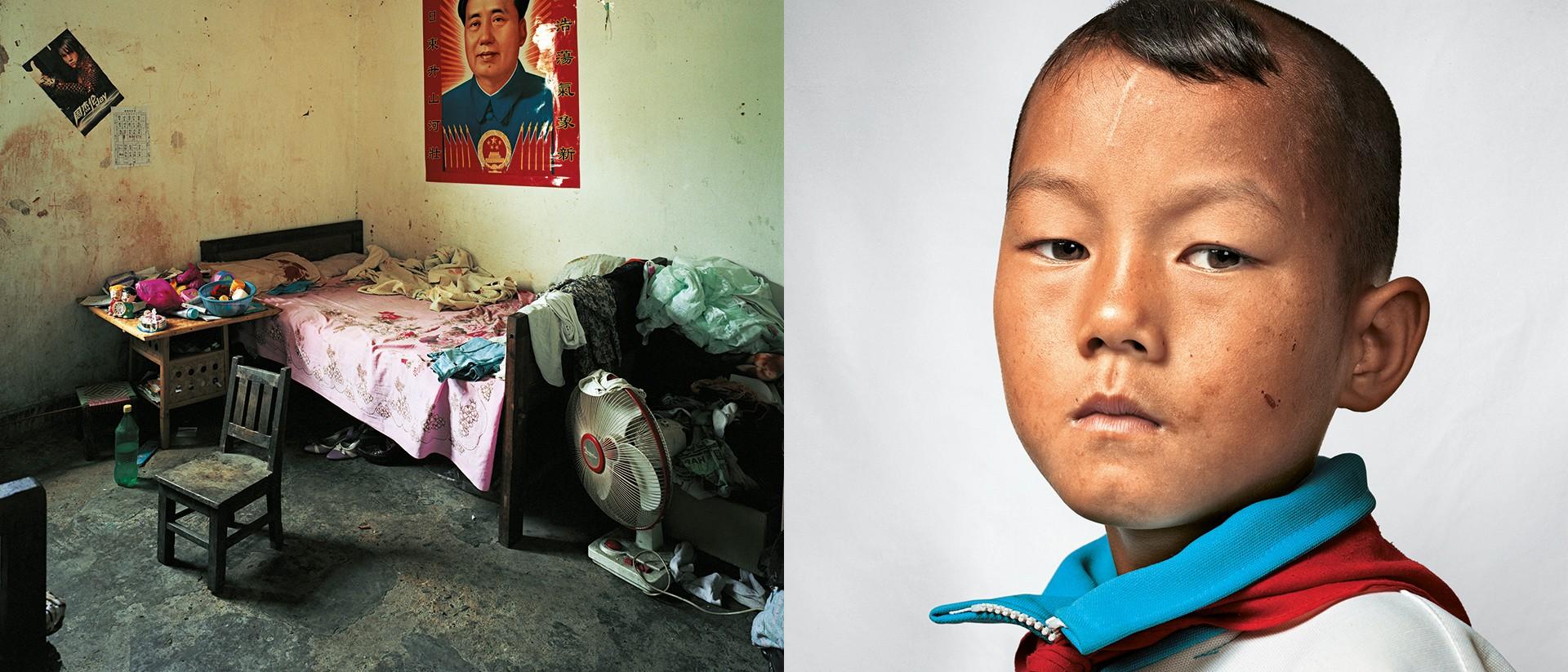 """Sociale status is een kwestie van afkomst en rijkdom. Fotograaf James Mollison portretteerde overal ter wereld kinderen en hun slaapkamers. Op deze foto: """"Dong (9), Yunnan (China). Foto: James Mollison/Courtesy Flatland Gallery"""