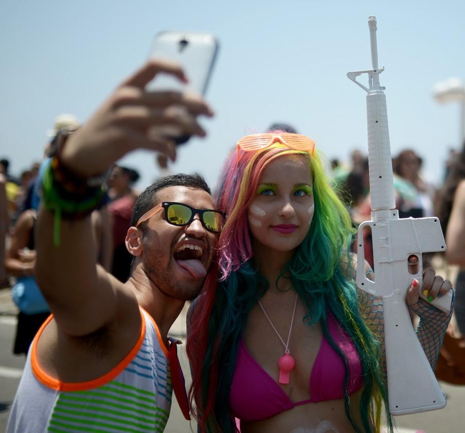 De Gay Pride in Tel Aviv op 13 juni 2014. Foto: Salih Zeki Fazlioglu/Hollandse Hoogte