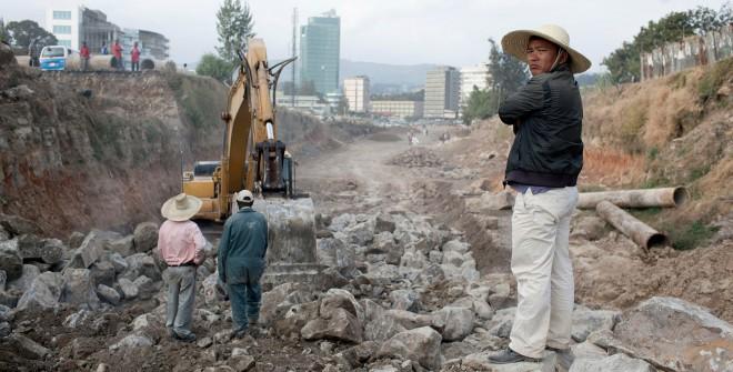 Een Chineze aannemer in Ethopië. Foto: Per-Anders Pettersson/Hollandse Hoogte