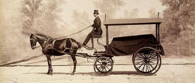 De voorloper op de auto in Engeland, 1880. Foto: Getty Images