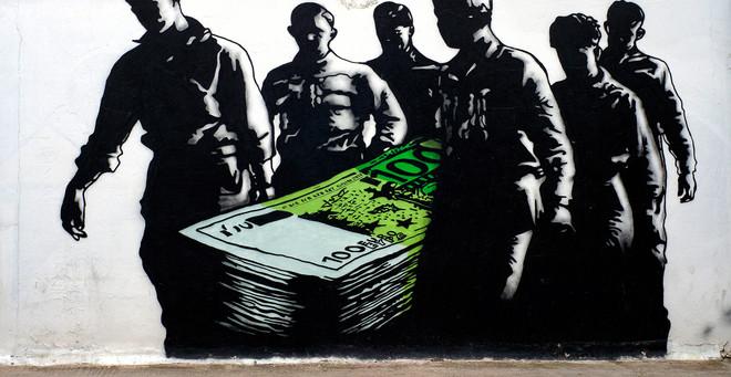 Een muurschildering in de Griekse hoofdstad Athene. Foto: Milos Bicanski/Getty Images