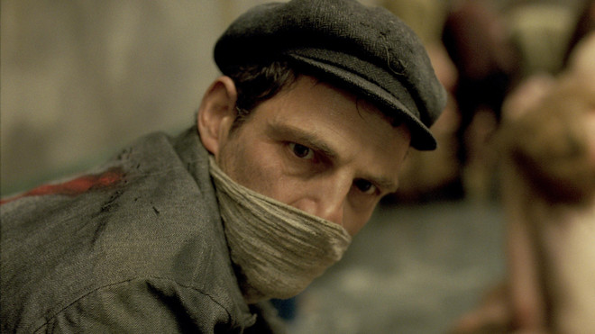 Still uit 'Son of Saul'.
