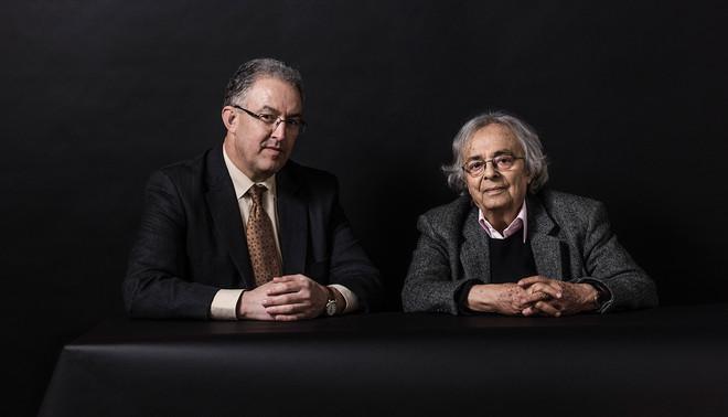 Aboutaleb en Adonis. Foto: Frank Ruiter (voor De Correspondent)