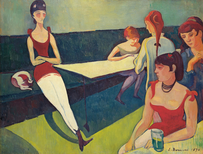 De salon (1890) van Emile Bernard (privécollectie).