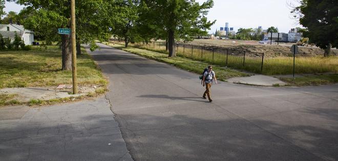 Fotograaf Garrett MacLean liep met Drew mee en maakte onderweg foto's. Foto: Garrett MacLean