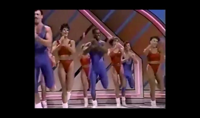 Het nummer 'Shake It Off' van Taylor Swift onder een aerobicsvideo uit 1989 op YouTube.