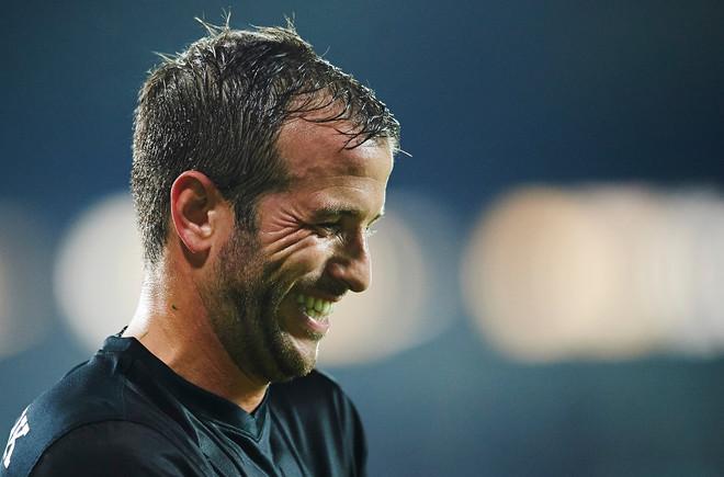Rafael van der Vaart bij het Deense FC Midtjylland. Foto: Lars Ronbog / Getty