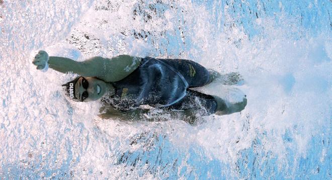 Ranomi Kromowidjojo tijdens de 50 meter vrije slag op de Olympische Spelen van 2016 in Rio de Janeiro. Foto: Al Bello / Getty Images