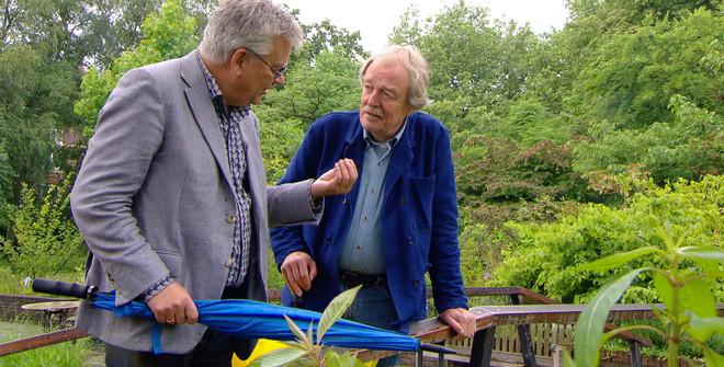 Bob Ursem en Midas Dekkers in het televisieprogramma 'Het ei van Midas'. Beeld: Omroep Max
