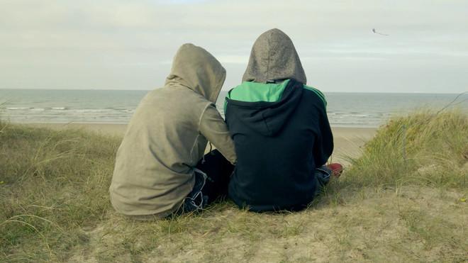 Een still uit de korte film Liefde in Calais