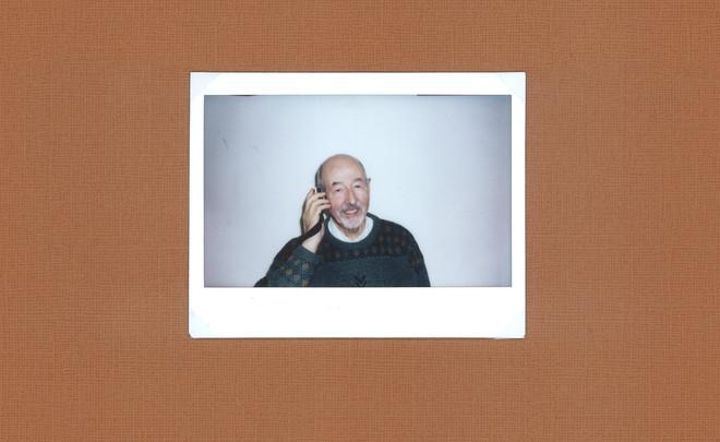 Henk gefotografeerd voor de dementiedagboeken