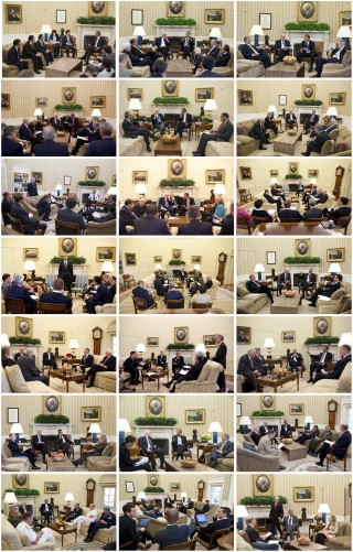 1. De huiskamer (deel 1). Foto's: Pete Souza/the White House