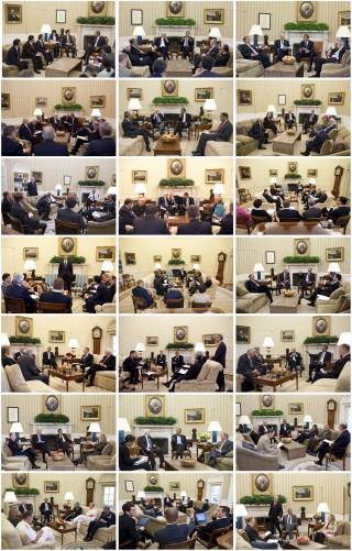 1. De huiskamer (deel 1). Foto's: Pete Souza/the White House