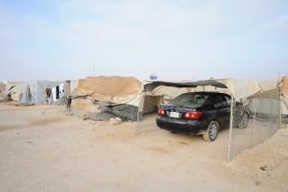 De materialen van de VN worden door de kampbewoners voor hele andere doeleinden gebruikt. Foto: Thijs Heslenfeld