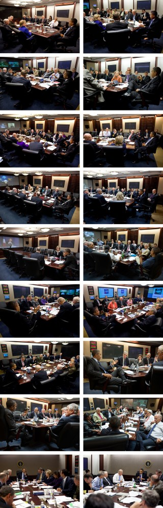 The Situation Room. Foto's: Pete Souza/the White House