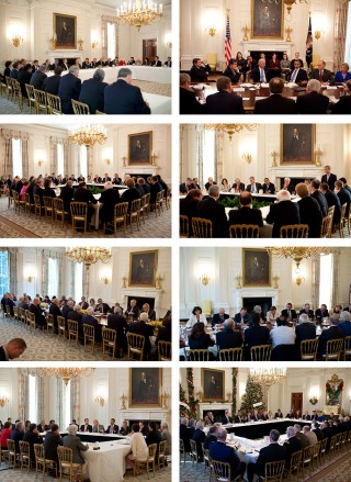 The State Dining Room. Foto's: Pete Souza/the White House