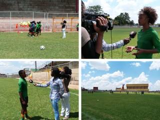 Z Kids maakt een reportage over het Zambiaanse meisjes-voetbalelftal onder de twintig. Foto's: Janneke van Riel