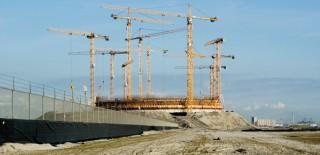 Aanleg van nieuwe LNG (liquified natural gas)-terminal op de Maasvlakte. Foto: Mischa Keijser/Hollandse Hoogte