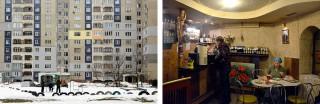 Een Sovjetwijk en een café in Lviv. Foto?s: Dolph Kessler