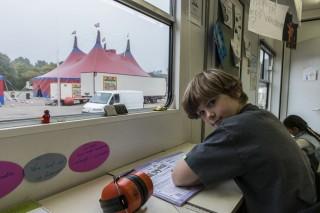 Uit de fotoserie 'Van de reis - mensen van de kermis en het circus'. Foto: Jac Weerts
