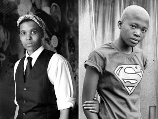 Links: Asanda Fanti (Zweden, 2011). Rechts: Mbali Zulu (Johannesburg 2010). Foto's: Images courtesy of Zanele Muholi and Stevenson Johannesburg/Cape Town