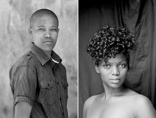 Links: Betesta Segale (Botswana, 2010). Rechts: Ayanda Magoloza (Johannesburg, 2012). Foto's: Images courtesy of Zanele Muholi and Stevenson Johannesburg/Cape Town