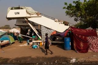 'Er waren geen toiletten, geen water en weinig eten. Laat staan accommodatie.' Foto: Adriane Ohanesian