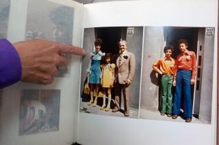 Van links naar rechts: Aaltje Geis, Jacqueline, stiefvader André Simons, Ronald en Richard. Foto: Martijn van de Griendt
