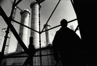 Het bedrijf Verolme in Botlek, Rotterdam. Onderbouw van een nieuw olieproductieplatform voor de NAM (jaartal onbekend). Foto: Peter Hilz/Hollandse Hoogte