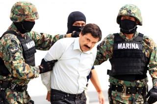 De arrestatie van drugsbaas Joaquin Guzman Loera, alias 'Shorty' op 21 februari 2014. Foto: Mario Guzman/EPA/ANP