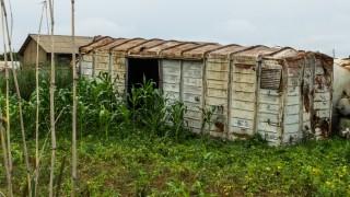Een gedumpte wagon in de buurt van Makambako. Deze wagons worden, als ze nog enigszins intact zijn, gebruikt door lokale boeren om te schuilen voor de regen. Foto: Sean van der Steen