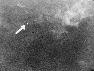 Een ufo boven Seattle (VS) in 1947. Foto: Frank Ryman/Hollandse Hoogte