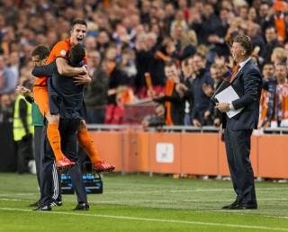 Tijdens de WK-kwalificatiewedstrijd Nederland - Hongarije. Foto: Michael Kooren/Hollandse Hoogte
