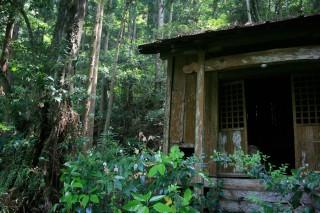 Het hutje is op Shikoku, in de Iya-vallei. Foto: Auke Hulst