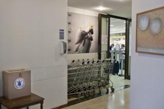 De supermarkt in het hoofdkantoor WFP: duty free. Foto: Pieter van den Boogert