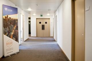 De foto die we niet mochten maken: op kantoor bij UNISDR. Foto: Pieter van den Boogert