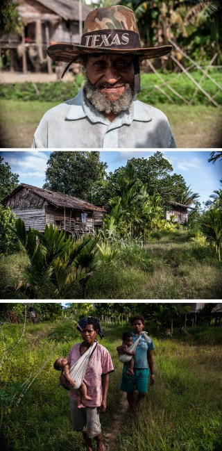 Vluchtelingen en hun dorp op de grens tussen Papoea-Nieuw-Guinea en West-Papoea. Foto's: Andreas Stahl