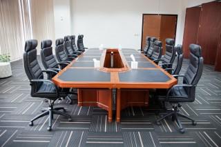 Conferentiezaal in de IHC in Dubai. Hulporganisaties kunnen deze zalen gratis gebruiken. Foto: Pieter van den Boogert