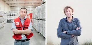 Links: Goran Zuber van de IFRC in Dubai. Rechts: Julien Chauvelle van Artsen Zonder Grenzen in Dubai. Foto's: Pieter van den Boogert