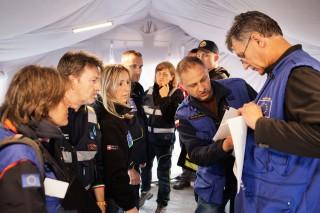 Hoofdkantoor van het EU-coördinatieteam. Foto: Pieter van den Boogert