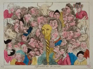 De samenkomst van de aristocratie. Beeld: Musée Carnavalet / Roger-Violl