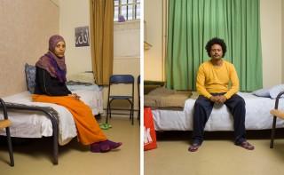 """Abeba uit Eritrea (links) en Atlabchew uit Ethiopië (rechts). Onderdeel van de serie """"Vluchthaven"""". Foto's: Ton Hendriks"""