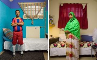 "Omar uit Somalië (links) en Halimo uit Somalië (rechts). Onderdeel van de serie ""Vluchthaven"". Foto's: Ton Hendriks"