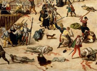 Detail van 'De nacht van Sint-Bartholomeüs' door Francois Dubois (1529 - 1584). Foto: Hollandse Hoogte