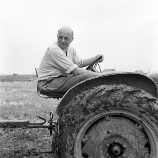 Sicco Mansholt in de Wieringermeer, 1950. Foto: Maria Austria Instituut/Sem Presser