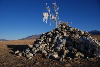 Een heilige plaats, aangeduid in de Altai-deelrepubliek onder de naam Ovo.