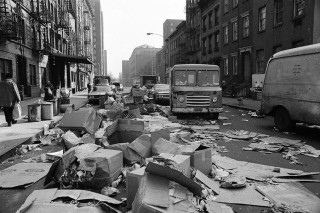 Manhattan op 9 februari 1968, als de vuilnismannen een week staken. Foto: Hollandse Hoogte