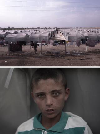 In het vluchtelingenkamp in Suruc (Turkije), waar veel Koerden uit Syrië naartoe zijn gevlucht. Foto's: Andreas Stahl